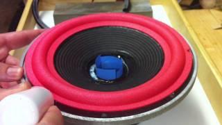 getlinkyoutube.com-Speaker Repair - Refoaming a Woofer