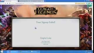 getlinkyoutube.com-Signup Failed Lol Solucion