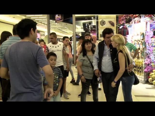 En el shopping de San Justo