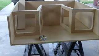 getlinkyoutube.com-PEARLAND CUSTOMZ : 4 Kicker L7 Blow Though Custom Subwoofer Box Pt.2b!!