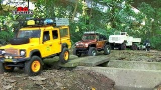 getlinkyoutube.com-13 RC Trucks scale offroad 4x4 Adventures RC4WD Timberwolf D110 M923 Jeep Wrangler honcho dingo