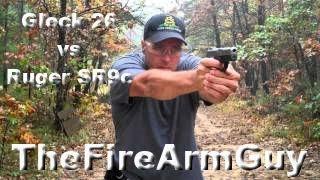 getlinkyoutube.com-Glock 26 vs Ruger SR9c - TheFireArmGuy
