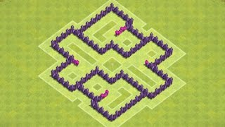 getlinkyoutube.com-Clash of Clans - TH5 Trophy / Clan Wars Base