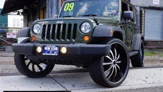 getlinkyoutube.com-2009 Jeep Wrangler Unlimited X DUB 26 inch Wheels