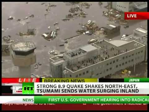Strong 8.9 earthquake rocks Japan, tsunami hits North East  (11/3/2011)