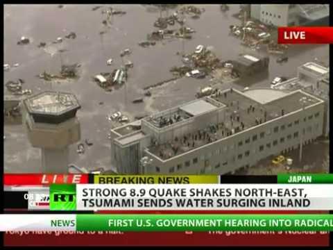 Strong 8.9 earthquake rocks Japan, tsunami hits North East  (11/3/2011)