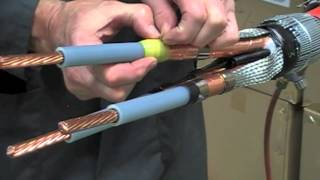 getlinkyoutube.com-Heat Shrink Cable Joint - 11kV 3 Core XLPE & EPR High Voltage Cable Joints
