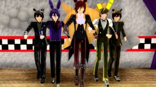 MMD FNAF Girls vs Boys