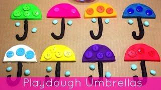 getlinkyoutube.com-Playdough Umbrellas Fine Motor Activity For Preschool and Kindergarten