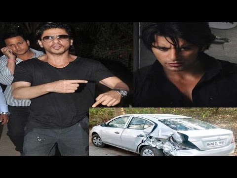 Shah Rukh Khans Vanity Van Damages Karanvir Bohras Car