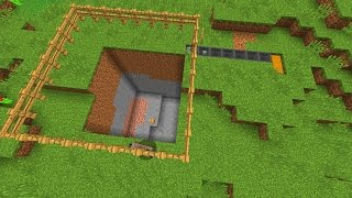 getlinkyoutube.com-Buildcraft Quarry in Minecraft Vanilla! Mining! - Minecraft Creation