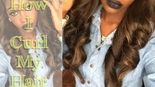 getlinkyoutube.com-How To Curl SYNTHETIC Hair | Dollar Tree Flexi Rods!