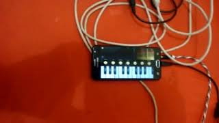Amw Midi controlador mini 32 teste com o aplicativo Android