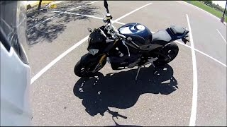 getlinkyoutube.com-Test Ride Review Ducati Monster 821   BMW S1000R Top speed 2015