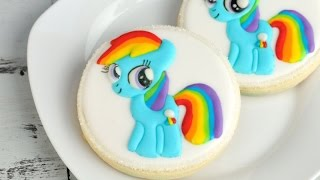 my little pony, rainbow dash cookies, haniela's