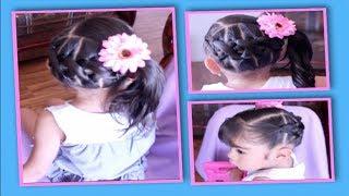 getlinkyoutube.com-Coleta Al Lado Entrelazada | Peinado Para Niñas Facil Y Duradero