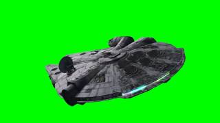 getlinkyoutube.com-Millennium Falcon in flight - 01 - Star Wars - green screen effects
