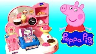 getlinkyoutube.com-Cooking Peppa Pig Pastry Shop with Cash Register Toy - Pastelería Pasticceria Pâtisserie Bäckerei
