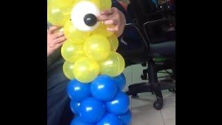 getlinkyoutube.com-Como elaborar una linda figura con globos para fiesta infantil de los minions