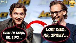 Tom Holland and Tom Hiddleston Makes Fun of Each Other - Avengers: Infinity War 2018
