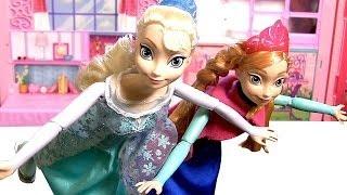 Bonecas Elsa Anna Patinadoras no Gelo | Ice Skating Elsa Anna Disney Frozen Completo em Portugues