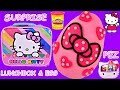 Back To School Surprise Lunch Box Hello Kitty Giant Play Doh Toy Egg + Pez Dispenser!