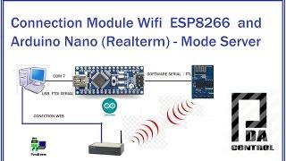 getlinkyoutube.com-Connection Module Wifi  ESP8266  and Arduino Nano (Realterm) - Mode Server : PDA_Control
