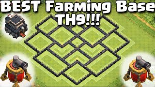 getlinkyoutube.com-Clash of Clans -*NEW* Air Sweeper BEST Townhall 9 (TH9) Farming BASE! New Update -2nd Air Sweeper!