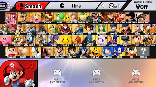 getlinkyoutube.com-Super Smash Bros WII U All Characters And Alternate Costumes / Colors (WII U)