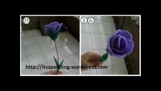getlinkyoutube.com-Cara Membuat Aneka Bunga Dari Kain Flanel