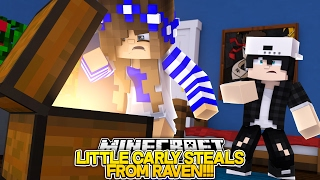 getlinkyoutube.com-LITTLE CARLY STEALS FROM RAVEN!! w/Little Leo (Minecraft Roleplay)