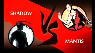 getlinkyoutube.com-Shadow Fight 2 ACT 2 Hermit : Shadow VS MANTIS Super Fight