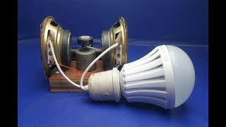 Free energy generator with magnets speaker 100% - Science projects 2018