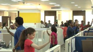getlinkyoutube.com-Flash Mob @ Geometric Limited, Mumbai Office