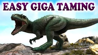 getlinkyoutube.com-ARK | Best Way To Tame A Giga | Giganotosaurus easy taming | Ark Survival Evolved