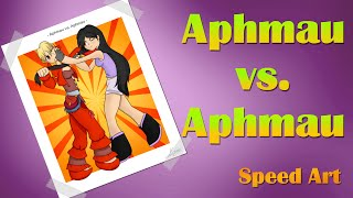 getlinkyoutube.com-Aphmau vs. Aphmau Speed Art