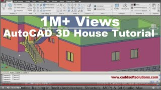 getlinkyoutube.com-AutoCAD 3D House Modeling Tutorial - 1 | 3D Home Design | 3D Building | 3D Floor Plan | 3D Room