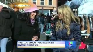 Los Lugares Favoritos de Thalía en NY Part1 (Despierta America) 11/11/2013
