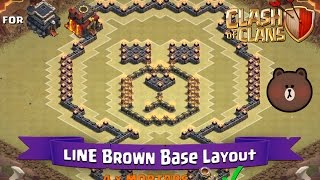 getlinkyoutube.com-Clash Of Clans: TH9 | TH10 | Fun Base Layout - LINE Brown