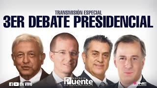 Tercer debate presidencial del INE desde Mérida, Yucatán - Proyecto Puente