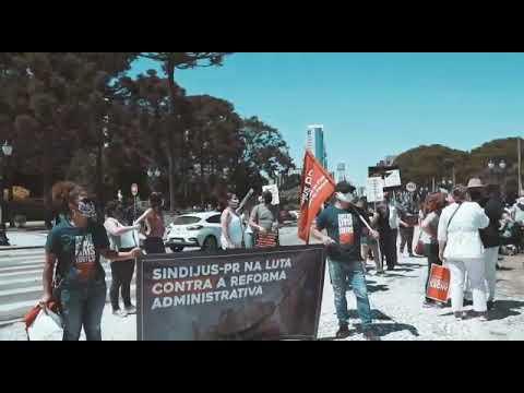 Sindijus-PR nas ruas no Dia do Servidor Público - 28 de outubro de 2020