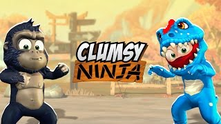 getlinkyoutube.com-Clumsy Ninja - Now with Animals!