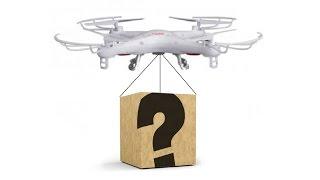 getlinkyoutube.com-Какой вес может поднять квадрокоптер Syma X5?
