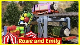 getlinkyoutube.com-Thomas and Friends Toy Trains Thomas the Tank Engine Accidents Happen Trackmaster Rosie Emily