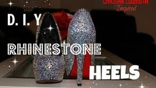 getlinkyoutube.com-DIY Rhinestone / Strass Heels! | Christian Louboutin Inspired + Channel Shoutouts!