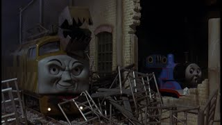 getlinkyoutube.com-Thomas and the Magic Railroad sound effects: Diesel 10 attacks the Sheds