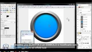 BlogBox - GIMP Tutorial - How to draw 3D button with GIMP - Come creare pulsante 3D con GIMP