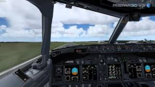 getlinkyoutube.com-Prepar3D V3 - PMDG 737 NGX - 4K - testing high graphics settings