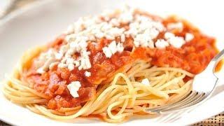 getlinkyoutube.com-Cocinar Espagueti Rojo (Rapido, Facil y Sencillo)