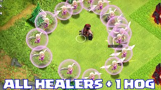 getlinkyoutube.com-Clash Of Clans - 1 HOG + ALL HEALERS!!! (INSANE GAMEPLAY)